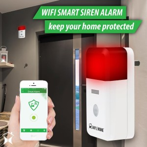 Simple Homes Smart WiFi Alarm Siren sounds and flashes lightshellip